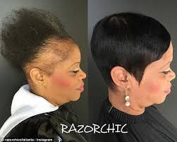 razor chic hairstyles of chicago atlanta hairstylist shares videos of clients suffering from hair