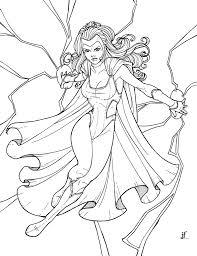 marvel storm coloring pages free superhero print kids download