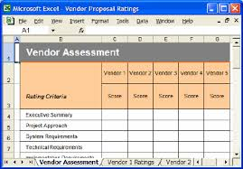 Vendor Management Excel Template Invitation To Tender Itt Template Ms Word