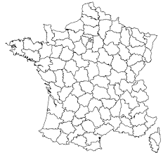 france coloured and outline maps of the departments