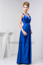 royal blue floor length evening dress prom gown thecelebritydresses