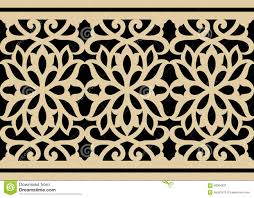 Moorish Design by Moorish Arabic Border Stock Vector Image 68364931