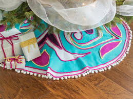 scandinavian inspired no sew felt tree skirt hgtv