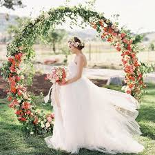 wedding arches meaning circular wedding arch trend popsugar home australia