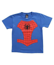 juvy spider man costume t shirt
