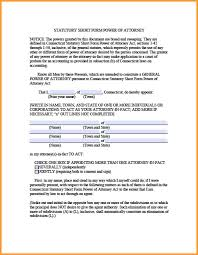 Free Medical Power Of Attorney Form Pdf by 11 Connecticut Durable Power Of Attorney Form Week Notice Letter