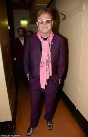 man pearl necklace images Elton john wears pearl necklace and earring set to savile row jpg