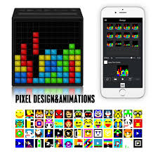 Cool Speakers Timebox Divoom Portable Speakers With 121 Rgb Led Programmable