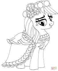 applejack pony coloring pages