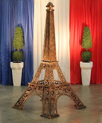 Eiffel Tower Decoration 12 U0027 Eiffel Tower With Beacon Light Town U0026 Country Event Rentals