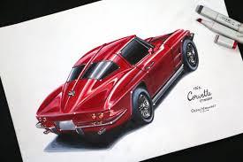 vintage corvette stingray 1963 corvette stingray freehand drawing ocean madhuraj draw to