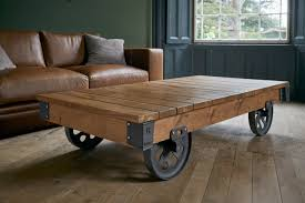 wood coffee table with wheels rustic wood coffee tables handmade from solid oak planks indigo