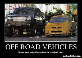 Off Road Memes - off road vehicles definition of pavement princess which of