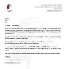 emotional support animal letter sample u2013 travel inside esa doctor