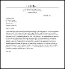 professional shift supervisor cover letter sample u0026 writing guide