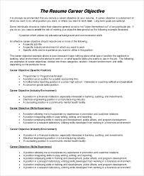 resume career objective career objective for resume musiccityspiritsandcocktail