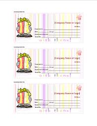 gift certificate templates sample format
