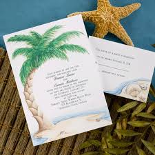 wedding invitations island bliss
