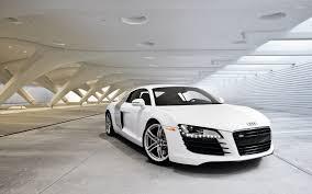 Audi R8 White - white audi r8 in a parking lot wallpaper car wallpapers 54490