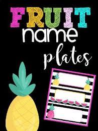 editable fruit editable fruit name plates by type a in prek teachers pay teachers