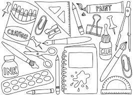 dessin de bureau illustration de l école ou des fournitures de bureau dessins sur