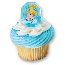 cinderella cupcake toppers disney princess gemstone cupcake topper ring cinderella set of
