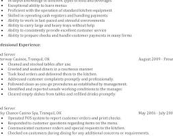 resume on customer service waitress resume example u2013 athousandwords us