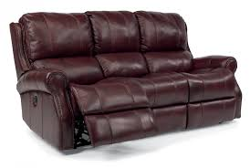 Flexsteel Reclining Leather Sofa Flexsteel