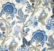 Blue Floral Curtains Jacobean Floral Curtains Eulanguages Net
