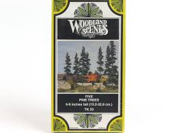 ho scale tree kit woodland scenics tk23 5 pine trees 6 to 9 inches