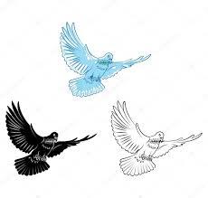 Personnage de dessin animé Coloriage livre colombe  Image