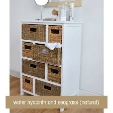 Wicker Basket Bathroom Storage Large White Storage Unit Wicker Drawers Hallway Kitchen