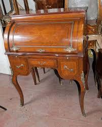 French Louis Xv Roll Top Desk Bureau Table Antique Desksantique