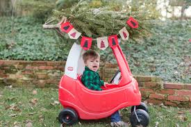 little tikes girls bed his little tikes car with mini christmas tree g crew blog