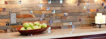 Backsplash Tile Ideas Glass And Slate Tile Backsplash Roselawnlutheran