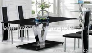 Tempered Glass Dining Table 20 Inspirations Black Glass Dining Tables Dining Room Ideas