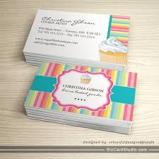 whimsical cupcake business cards bakery business cards