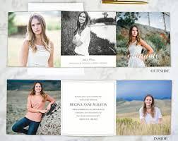 tri fold graduation announcements college graduation invitation printable or printed high