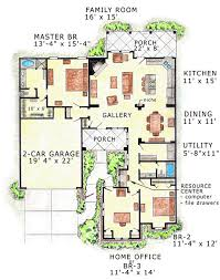 House Plans With Detached Garage And Breezeway First Floor Plan Of Florida Traditional House Plan 56511 House