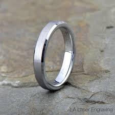 beveled ring tungsten wedding band brushed tungsten ring beveled edges