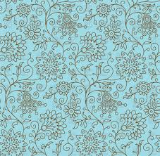 seamless background with simple floral ornament vector clipart