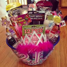 gifts for birthday 21st birthday gift basket diy inspired