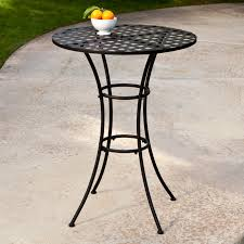 Tall Outdoor Patio Furniture Belham Living Wrought Iron Bar Height Bistro Set By Woodard
