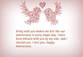 1st Anniversary Wishes Messages For Wife Being With You Makes Me Feel Like Our Anniversary Is Every Single