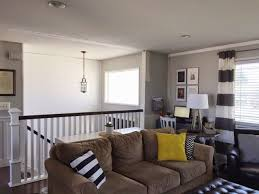 Keep Home Simple Our Split Level Fixer Upper space between rail and sofa