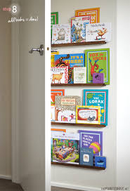 Over Door Bookshelf The Painted Hive Easy Diy Narrow Floating Bookshelves For