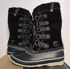 ebay womens sorel boots size 9 womens sorel joan of arctic shearling black waterproof suede