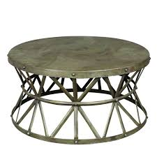 distressed metal coffee table porter truss green distressed industrial metal coffee table india