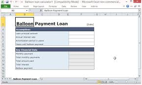Loan Amortization Calculator Excel Template Free Balloon Payment Excel Template