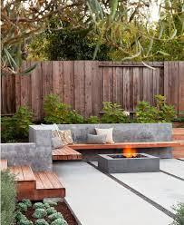 concrete backyard design incredible top 25 best backyard ideas on